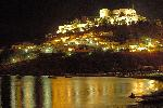 Lindos-Lindos by night