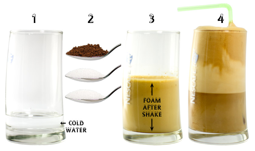 Frappe - How to make the Frappe greek coffee