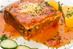 Greek Mousaka dish