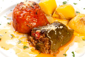 Stuffed vegetables dish