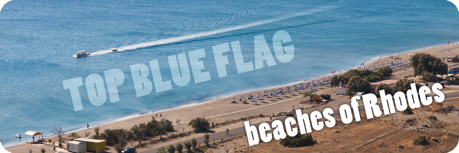 Top Blue Flag Beach of Rhodes Island Greece: Faliraki Beach